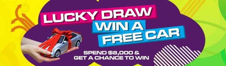 Win a free car via Lucky Draw