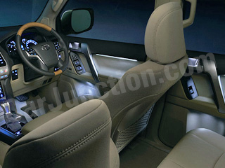 Seat upholstery + Internal Capacity