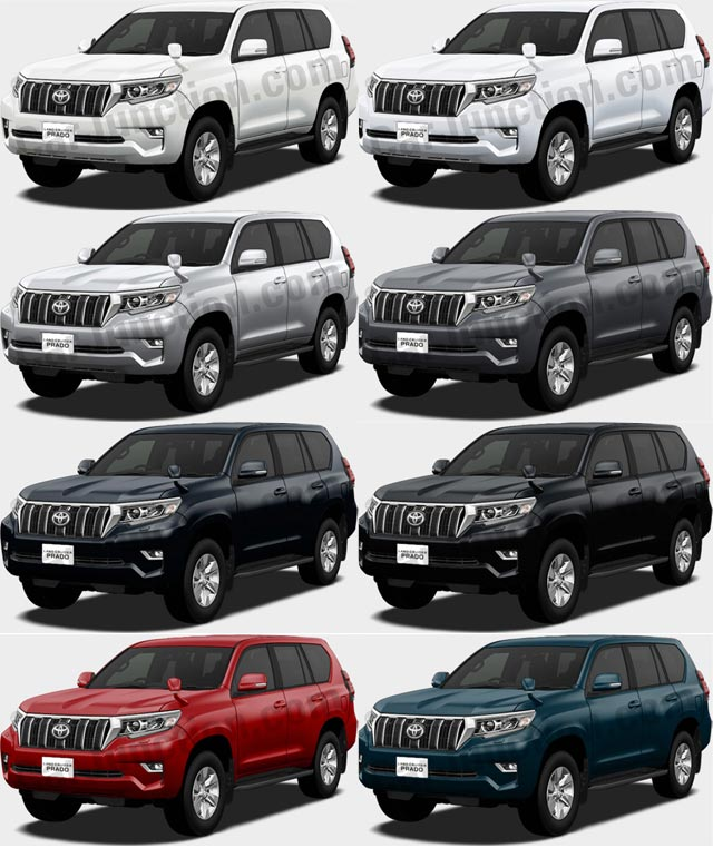 TOYOTA LAND CRUISER PRADO in Colors